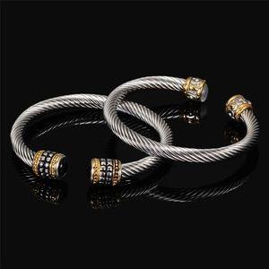 Bangle Bracelet Set Twisted Cable Wire Vintage
